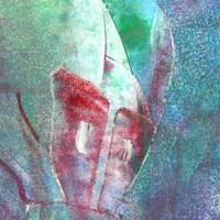 Auf den zweiten Blick - Begegnung zweier Welten - Original Encausticmalerei, gerahmtes Unikat, Museumsglas Bild 3