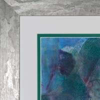 Auf den zweiten Blick - Begegnung zweier Welten - Original Encausticmalerei, gerahmtes Unikat, Museumsglas Bild 5