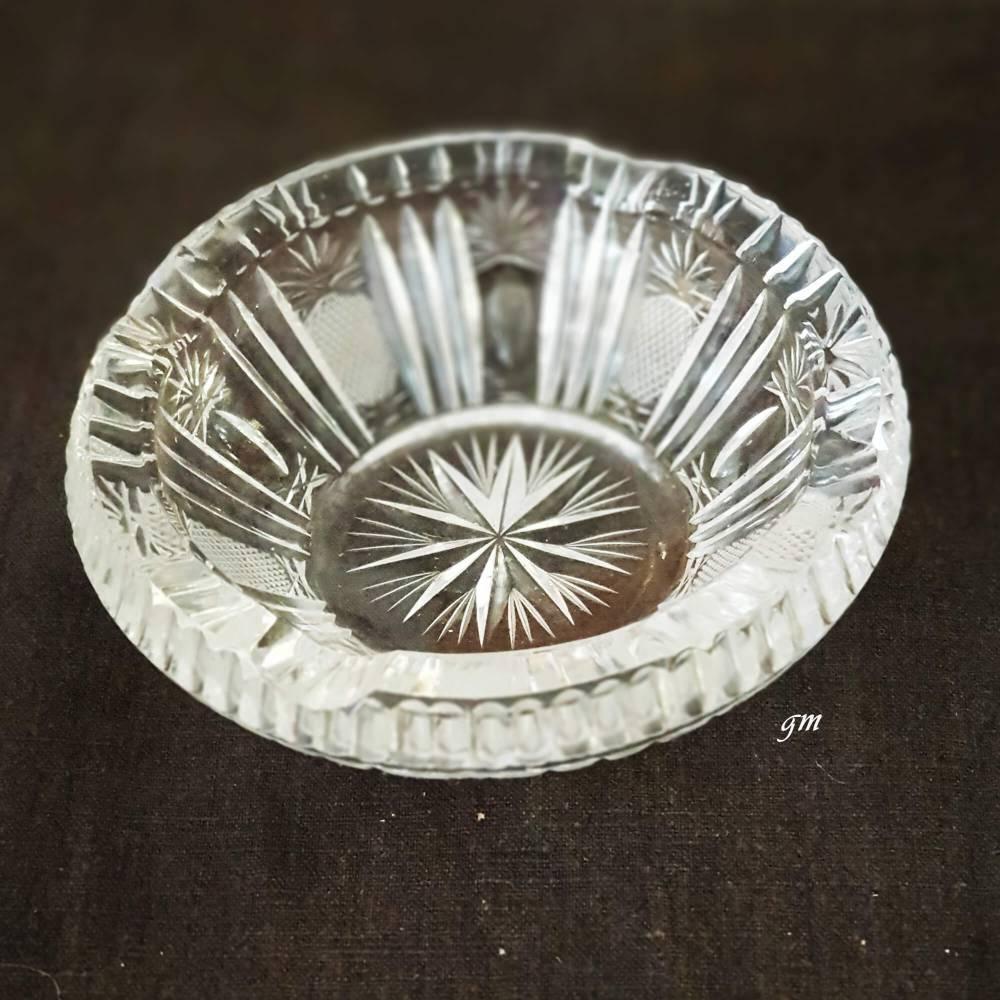 Vintage Aschenbecher aus Kristallglas 1960er Bild 1