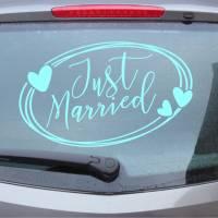 Just Married 03 - Autotattoo in Wunschfarbe - Hochzeitsaufkleber - Hochzeitsdeko - Hochzeitsdekoration Bild 1