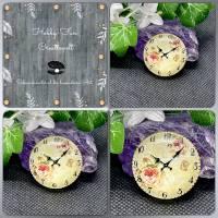 Glascabochon mit Uhrenmotiv, ca. 30x7mm Bild 1
