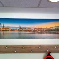 Hamburg Foto Datei - Binnenalster einzigartiges Panorama, Höhe 30 cm, Breite 116,24 cm - zum Selbstdruck Bild 2