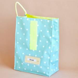 Lunchbag groß, Badetasche, türkis mit Sternchen, wasserabweisend Bild 3