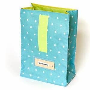 Lunchbag groß, Badetasche, türkis mit Sternchen, wasserabweisend Bild 6