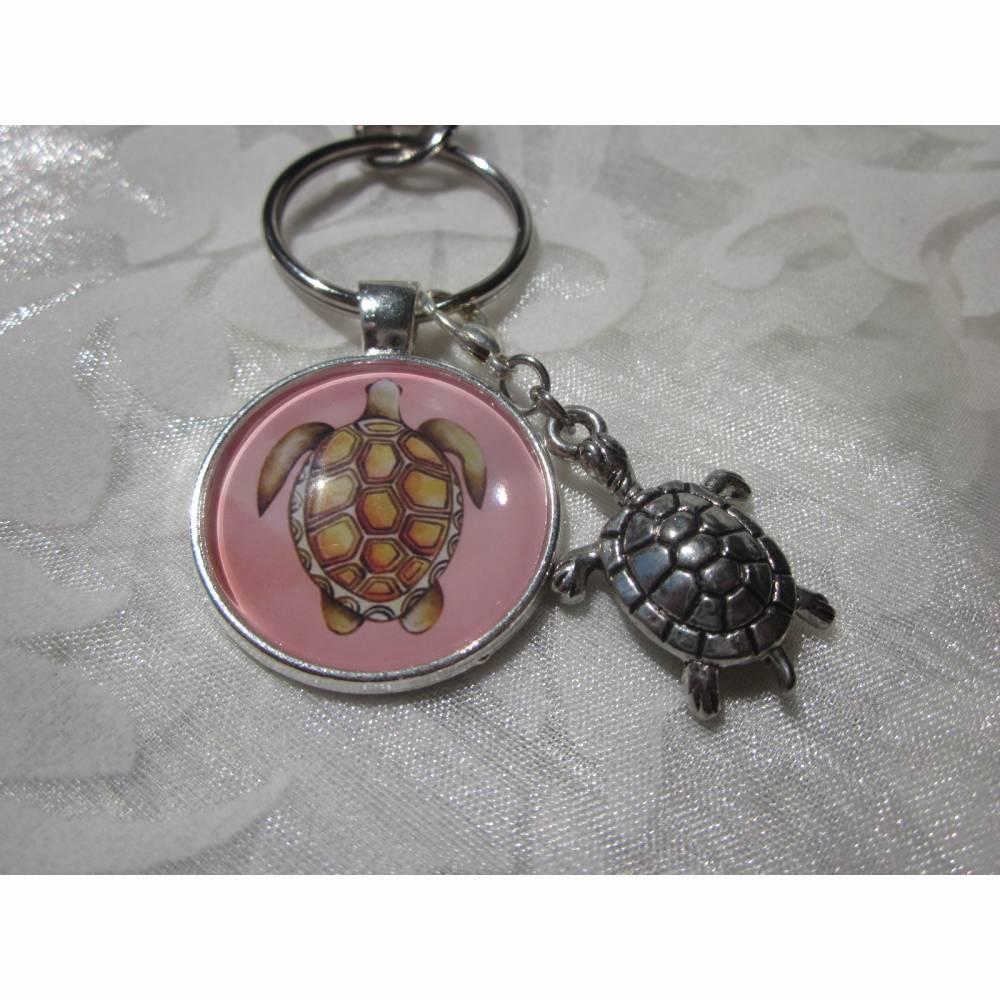 """Schlüsselanhänger Schildkröte """"Tortue"""" Geschenkidee Geburtstagsgeschenk  Bild 1"""