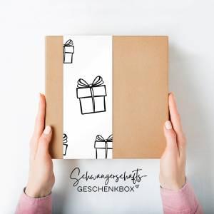 """Geschenk-Box """"Wir sind schwanger"""", rosa Bild 1"""