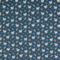 Bio Baumwolljersey kleiner Schwan jeansblau Organic Cotton(1m/14,-€)  Bild 2