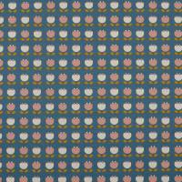 Bio Baumwolljersey Blumen jeansblau Organic Cotton(1m/14,-€)  Bild 2