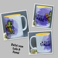 """Tasse/Keramiktasse/""""Einschulung Schildkröte"""" Design von Lulu & Fonsi/Einschulung/Klasse/1.Schultag/Schildkröte Bild 1"""