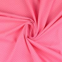 Baumwolljersey Punkte Dots rosa-weiß Oeko-Tex Standard 100(1m/12,-€) Bild 1