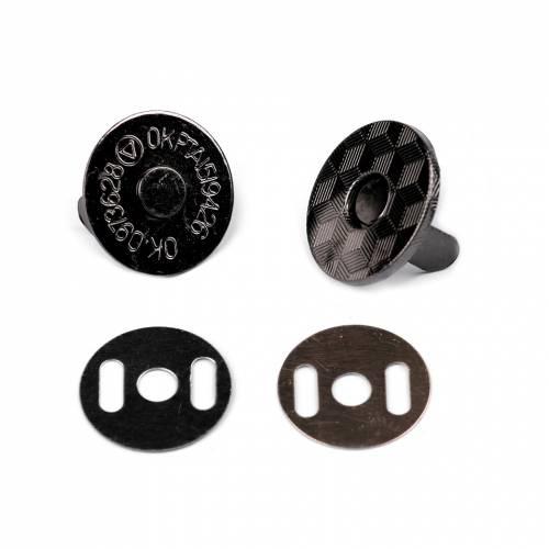 5 Magnetverschlüsse super flach schwarz