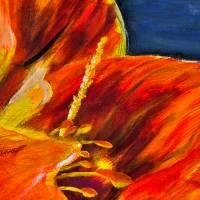 Amaryllis - Original Ölmalerei, gerahmt Bild 3