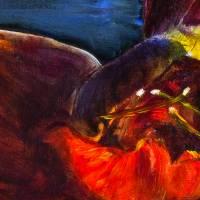 Amaryllis - Original Ölmalerei, gerahmt Bild 4