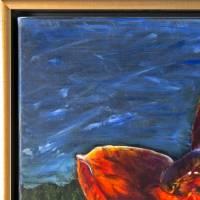 Amaryllis - Original Ölmalerei, gerahmt Bild 5