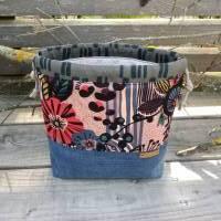 Projekttasche - Projektbeutel - Tasche mit Zugband - upcycling Bild 1