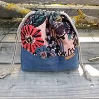 Projekttasche - Projektbeutel - Tasche mit Zugband - upcycling Bild 5