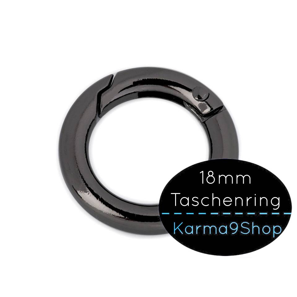 Taschenring 18mm schwarz Bild 1