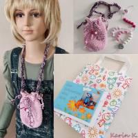 Rechenkette im Brustbeutel Weiß Rosa Rosé Pink mit Glückwunschkarte und Geschenktasche Bild 7