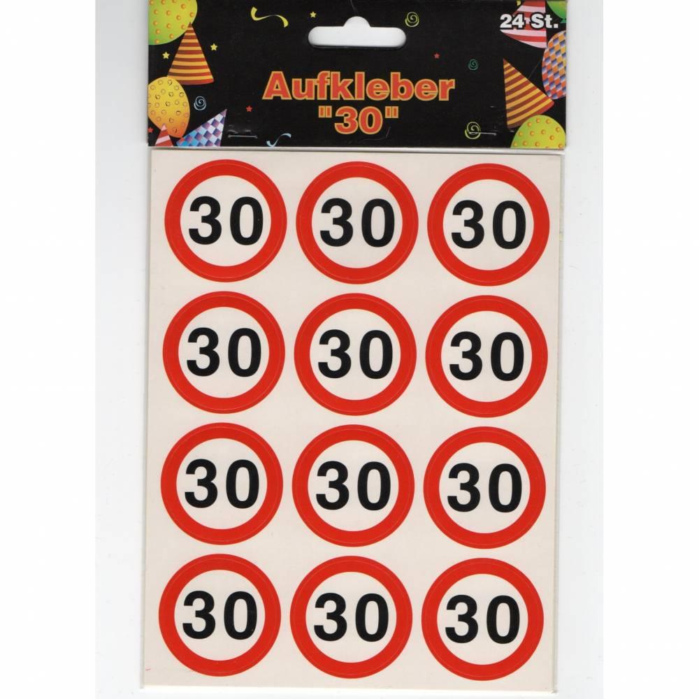 Sticker Aufkleber Zahl 30 zum runden Jubiläum - Geburtstag - Hochzeitstag - Dienstjubiläum Bild 1