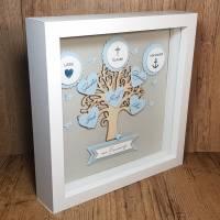 Firmungsgeschenk, Bilderrahmen, Lebensbaum zur Firmung, Junge, originelles Geschenk zur Firmung Bild 2