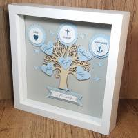 Firmungsgeschenk, Bilderrahmen, Lebensbaum zur Firmung, Junge, originelles Geschenk zur Firmung Bild 3