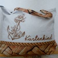 """Shopper Bag XXL /  Stofftasche / Strandtasche / der ideale Alltagsbegleiter im maritimen Style - """" Küstenkind"""" Bild 1"""