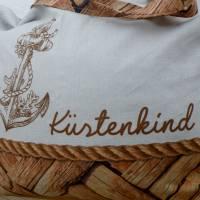 """Shopper Bag XXL /  Stofftasche / Strandtasche / der ideale Alltagsbegleiter im maritimen Style - """" Küstenkind"""" Bild 2"""