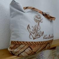 """Shopper Bag XXL /  Stofftasche / Strandtasche / der ideale Alltagsbegleiter im maritimen Style - """" Küstenkind"""" Bild 3"""