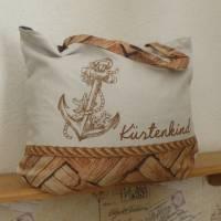 """Shopper Bag XXL /  Stofftasche / Strandtasche / der ideale Alltagsbegleiter im maritimen Style - """" Küstenkind"""" Bild 4"""