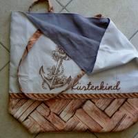 """Shopper Bag XXL /  Stofftasche / Strandtasche / der ideale Alltagsbegleiter im maritimen Style - """" Küstenkind"""" Bild 5"""