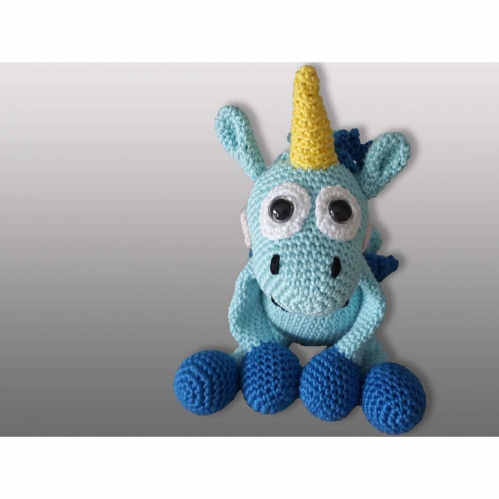 "Amigurumi Häkelanleitung ""Unicorn Fluffy II"" Bild 1"