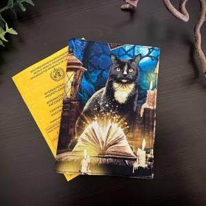Impfpasshülle Mystic Cats für Erwachsene, Umschlag, Impfausweis Hülle, schlicht Bild 1