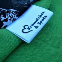 Textiletiketten 24 Stk. Satinband 30x30 Wunschtext/Logo einfarbig einseitig bedruckt Bild 1