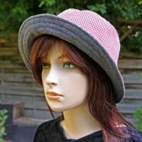 bestickter Hut zum Oktoberfest aus Wolle / Baumwolle, Wendehut, Bucket Hat oder Fischerhut im Trachten Stil, UNIKAT Gr L Bild 8