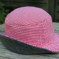 bestickter Hut zum Oktoberfest aus Wolle / Baumwolle, Wendehut, Bucket Hat oder Fischerhut im Trachten Stil, UNIKAT Gr L Bild 9