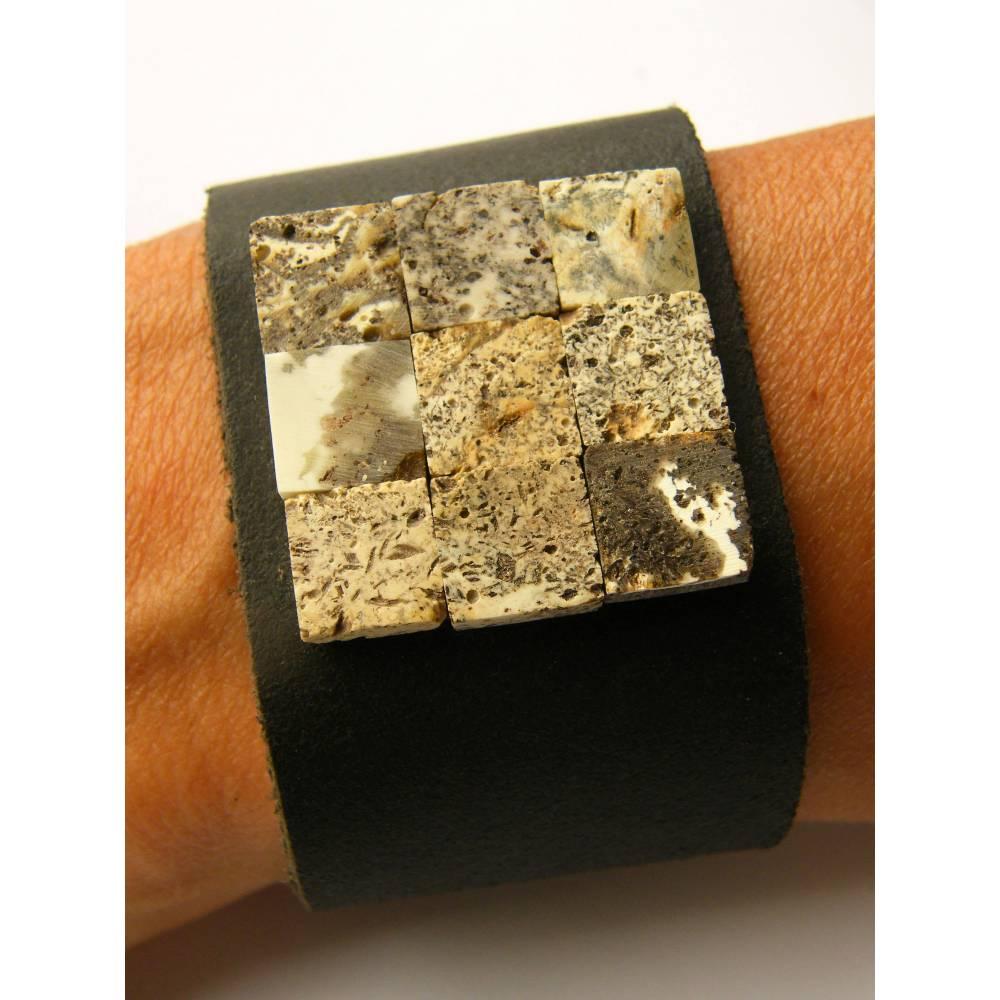 Bernstein Armband, Naturleder, grau, schwarz, echte Bernstein, Bernsteinstein, für ihn oder sie, Männer Armband, neu, EI Bild 1