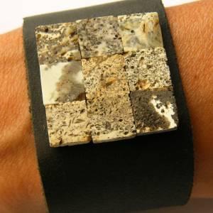 Bernstein Armband, Naturleder, grau, schwarz, echte Bernstein, Bernsteinstein, für ihn oder sie, Männer Armband, neu, EI Bild 3