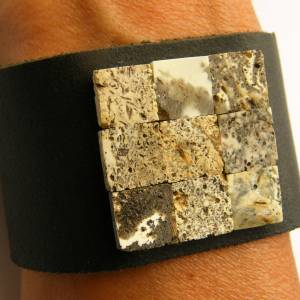 Bernstein Armband, Naturleder, grau, schwarz, echte Bernstein, Bernsteinstein, für ihn oder sie, Männer Armband, neu, EI Bild 4