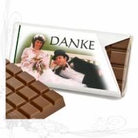 *Hochzeit Danke*, individuell gestaltete Mini-Schokotäfelchen mit Ihren eigenen Fotos, ab 15 Stück, keine Versandkosten Bild 1