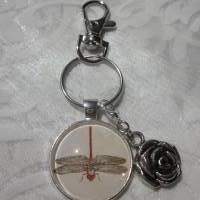 "Schlüsselanhänger Libelle ""Libellule"" Rose Geschenkidee Geburtstagsgeschenk  Bild 2"