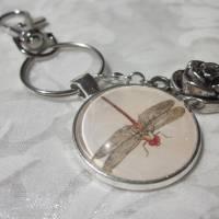 "Schlüsselanhänger Libelle ""Libellule"" Rose Geschenkidee Geburtstagsgeschenk  Bild 3"