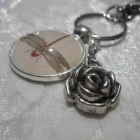 "Schlüsselanhänger Libelle ""Libellule"" Rose Geschenkidee Geburtstagsgeschenk  Bild 5"