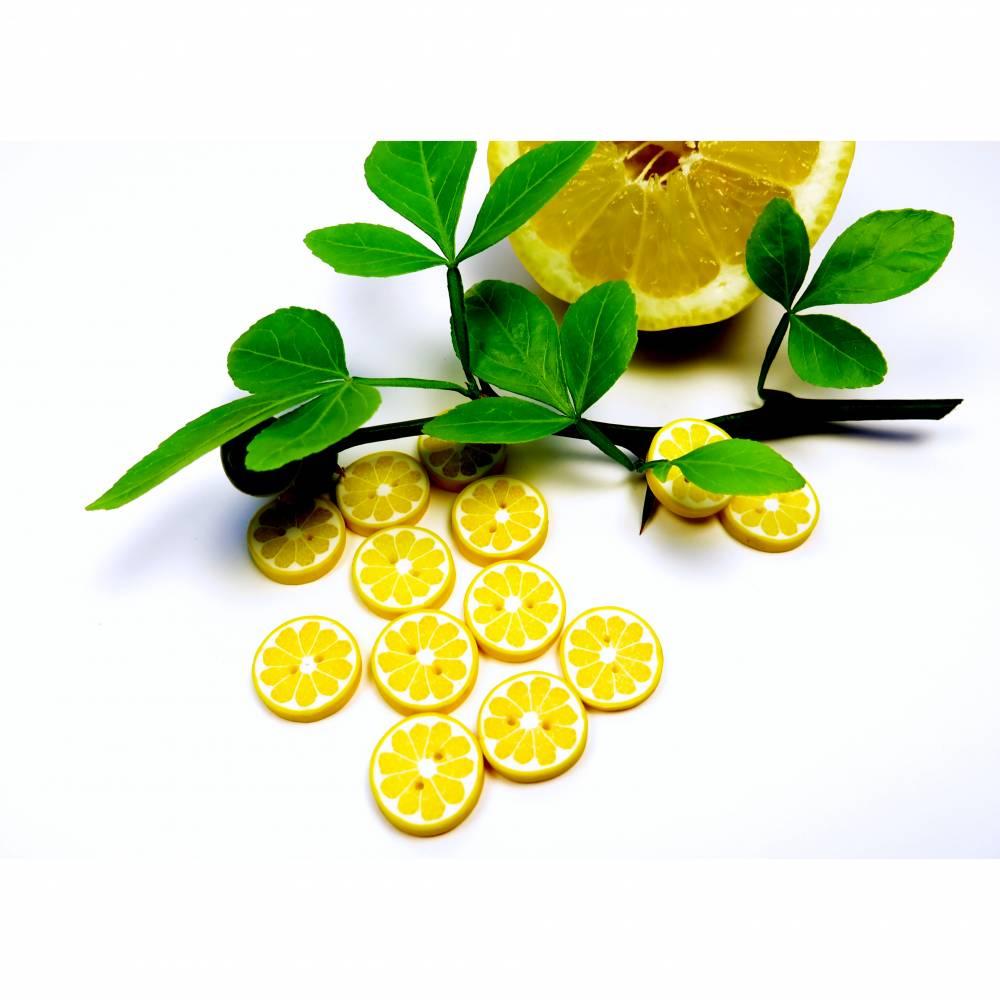 Zitronenknöpfe aus Fimo im 6er, 4er oder 3er Set Bild 1