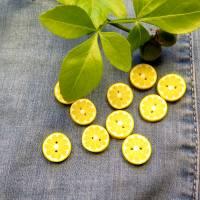 Zitronenknöpfe aus Fimo im 6er, 4er oder 3er Set Bild 2