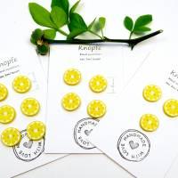 Zitronenknöpfe aus Fimo im 6er, 4er oder 3er Set Bild 3