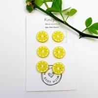 Zitronenknöpfe aus Fimo im 6er, 4er oder 3er Set Bild 4