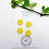 Zitronenknöpfe aus Fimo im 6er, 4er oder 3er Set Bild 5