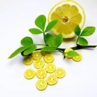 Zitronenknöpfe aus Fimo im 6er, 4er oder 3er Set Bild 7