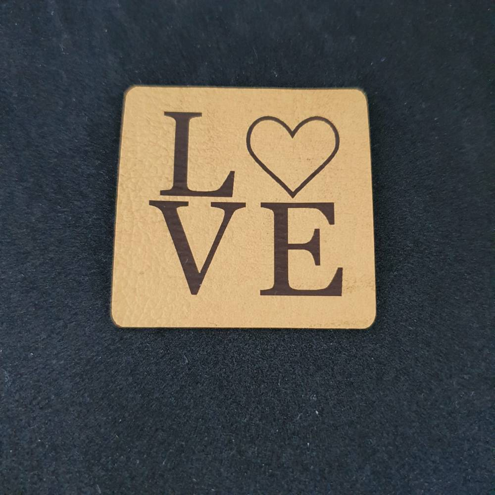 """Kunstlederlabel """"LOVE"""" Bild 1"""