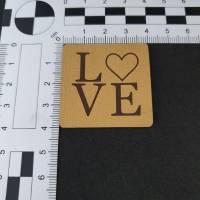 """Kunstlederlabel """"LOVE"""" Bild 2"""